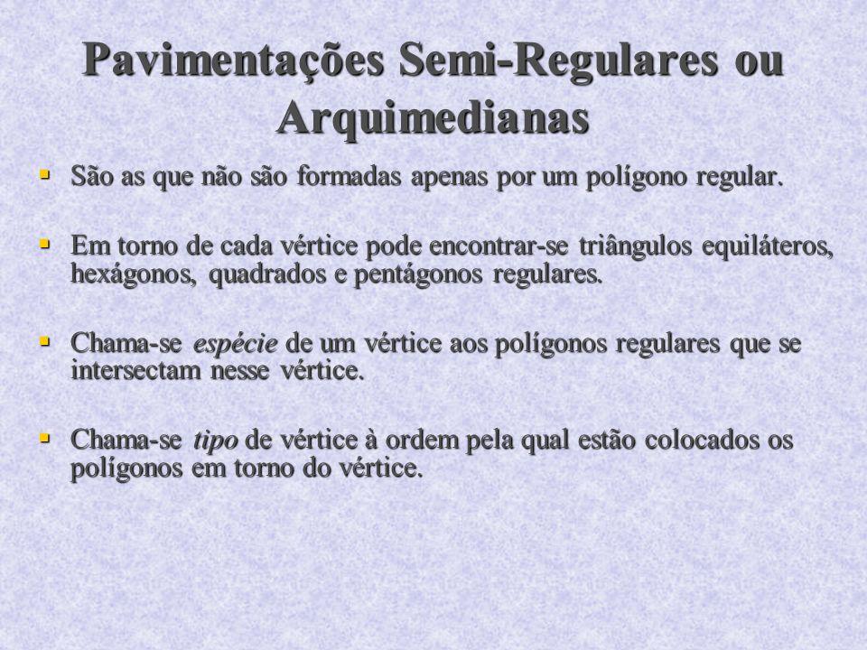 Pavimentações Semi-Regulares ou Arquimedianas