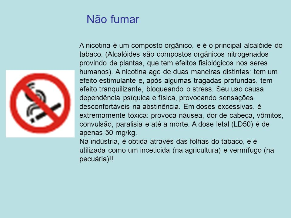 Não fumar