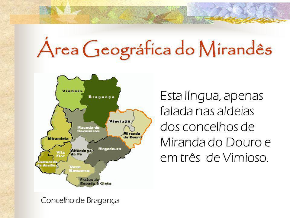 Área Geográfica do Mirandês