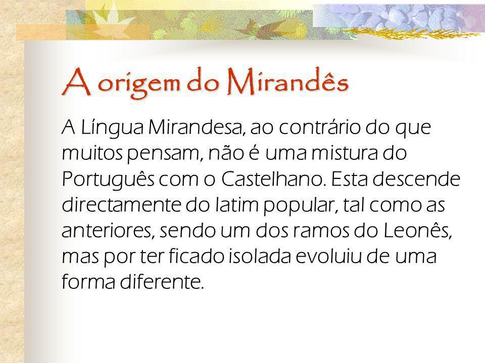 A origem do Mirandês