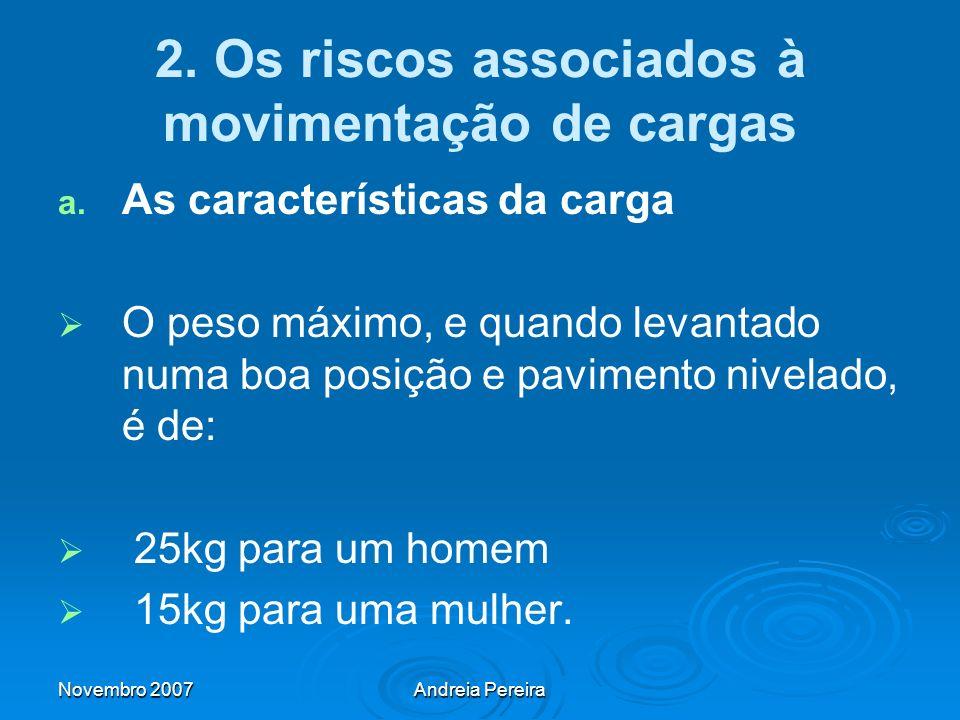 2. Os riscos associados à movimentação de cargas