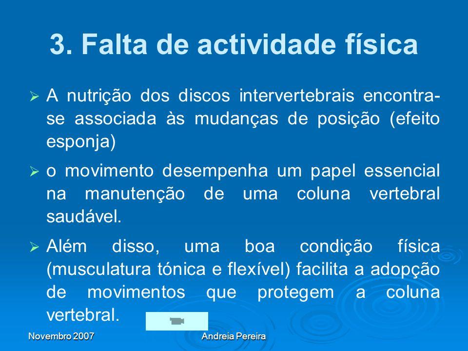 3. Falta de actividade física