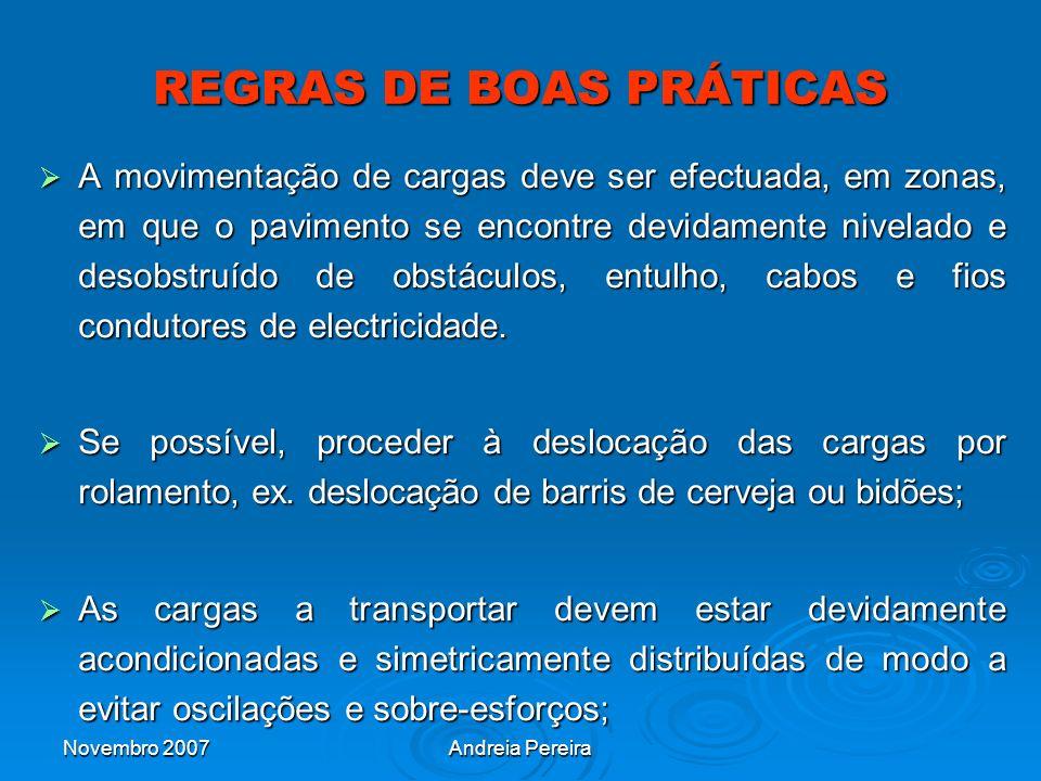 REGRAS DE BOAS PRÁTICAS