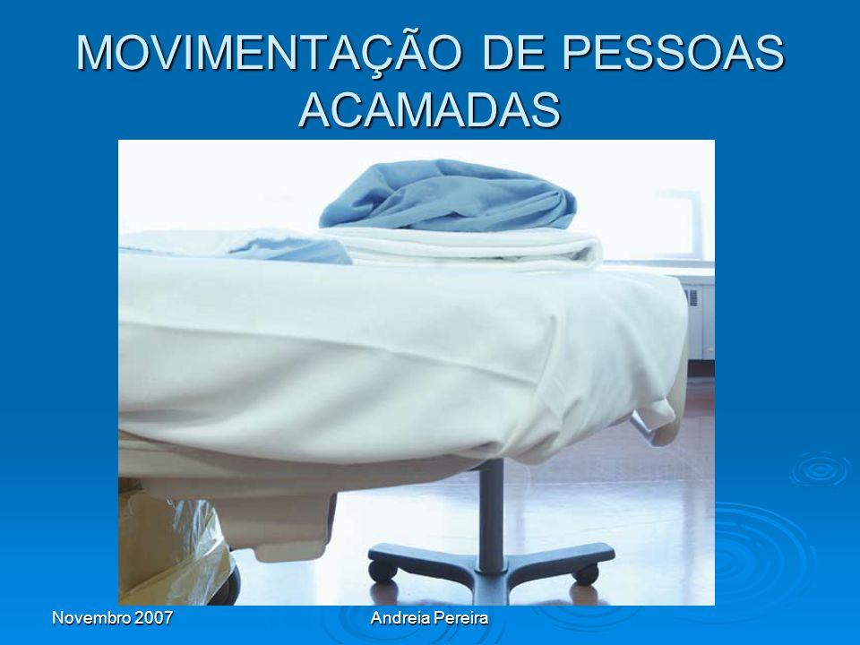 MOVIMENTAÇÃO DE PESSOAS ACAMADAS