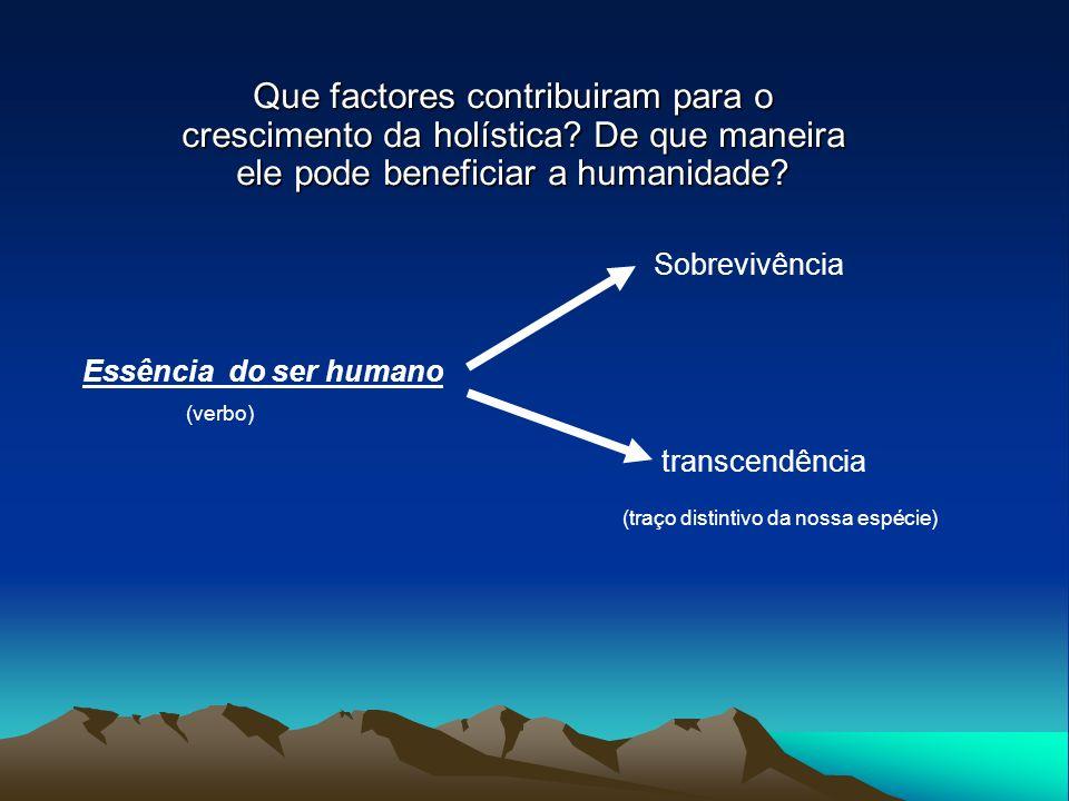 Que factores contribuiram para o crescimento da holística