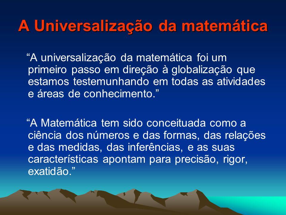A Universalização da matemática