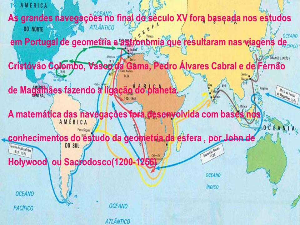 As grandes navegações no final do século XV fora baseada nos estudos