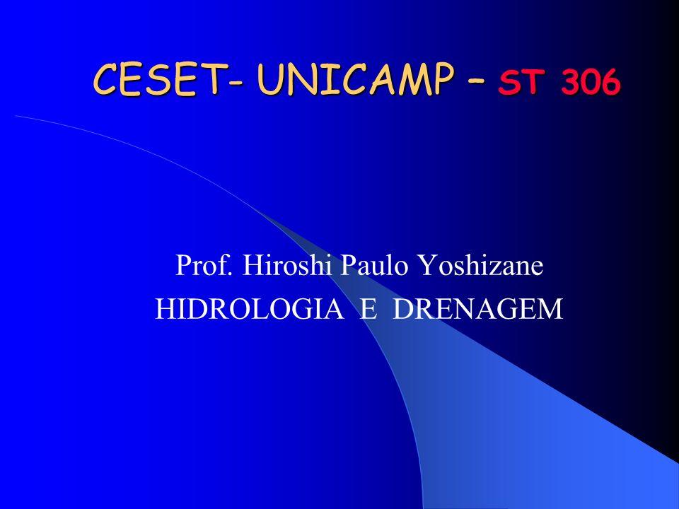Prof. Hiroshi Paulo Yoshizane HIDROLOGIA E DRENAGEM