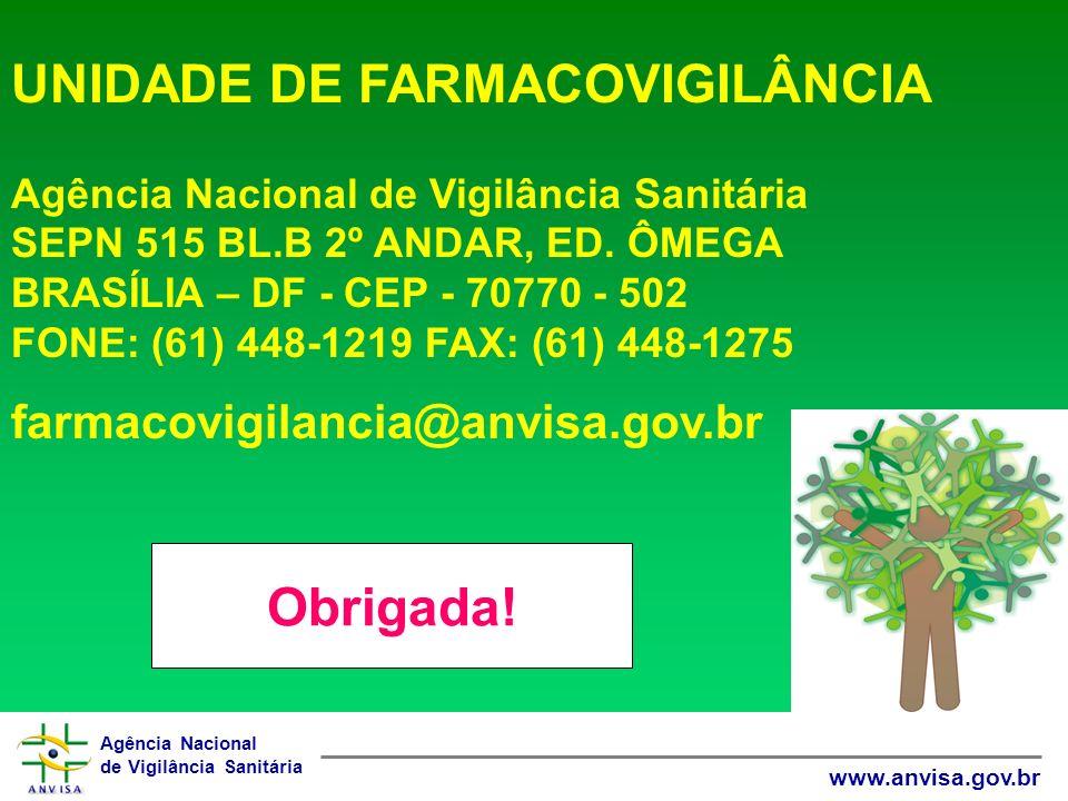UNIDADE DE FARMACOVIGILÂNCIA