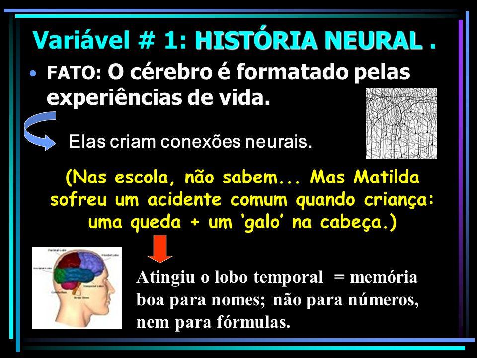 Variável # 1: HISTÓRIA NEURAL .