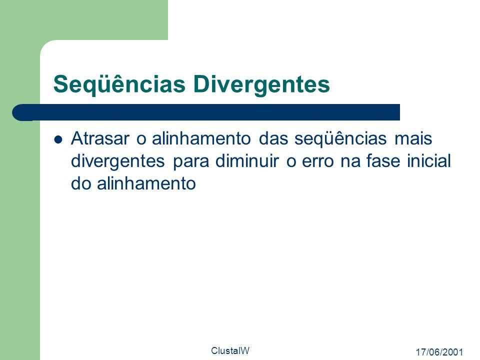 Seqüências Divergentes