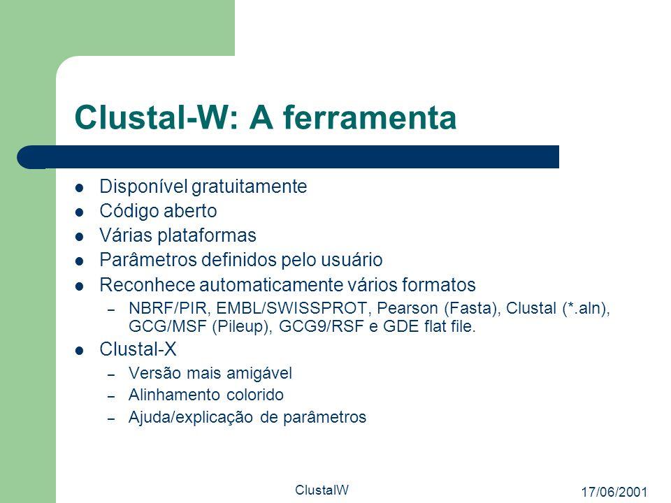 Clustal-W: A ferramenta