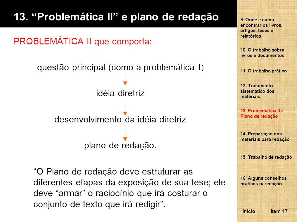 13. Problemática II e plano de redação