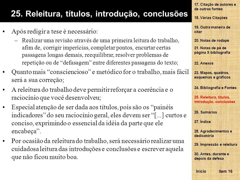 25. Releitura, títulos, introdução, conclusões