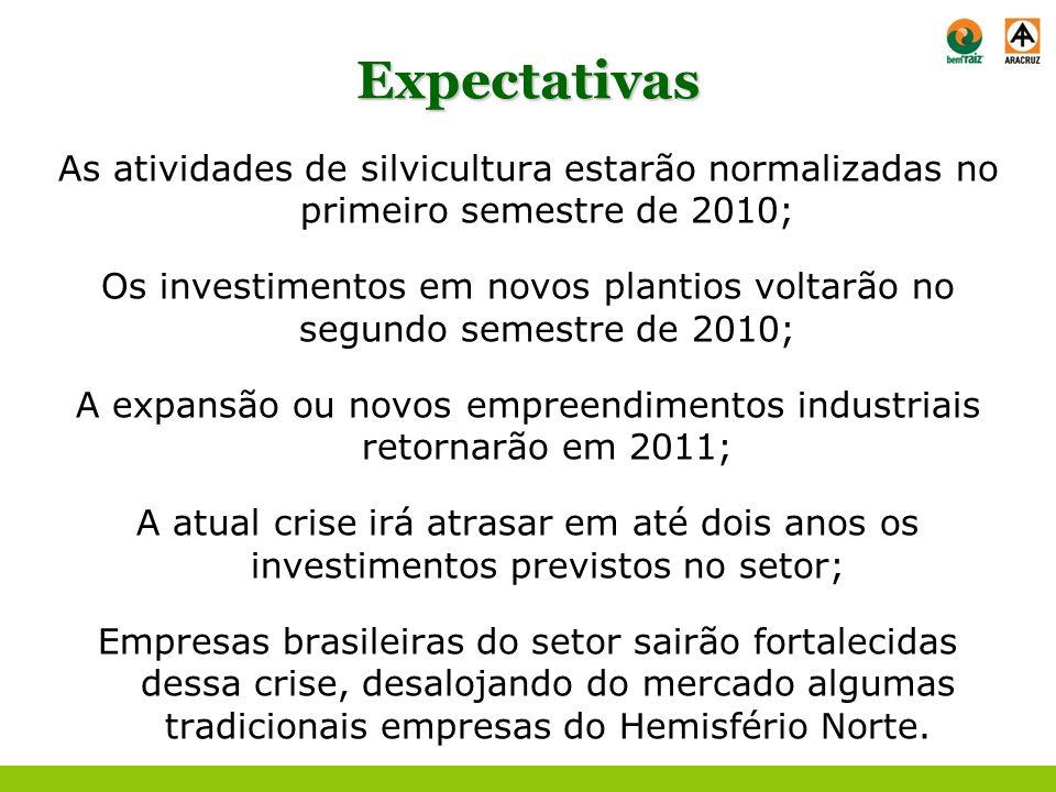 A expansão ou novos empreendimentos industriais retornarão em 2011;