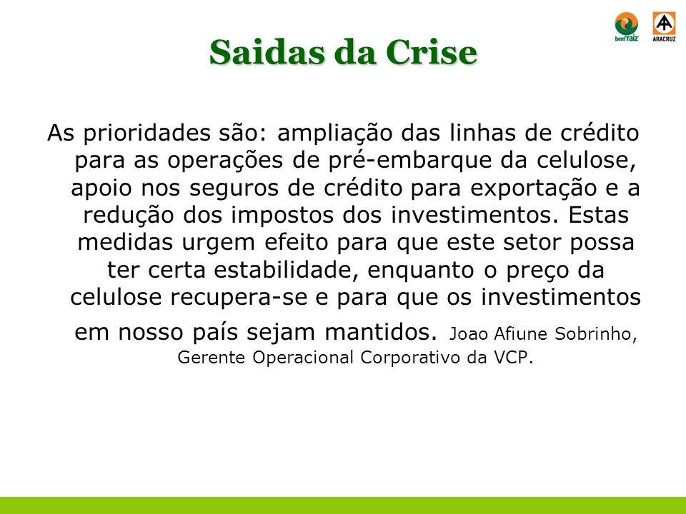 Saidas da Crise