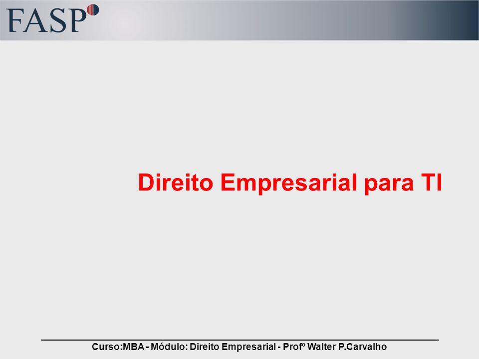 Direito Empresarial para TI