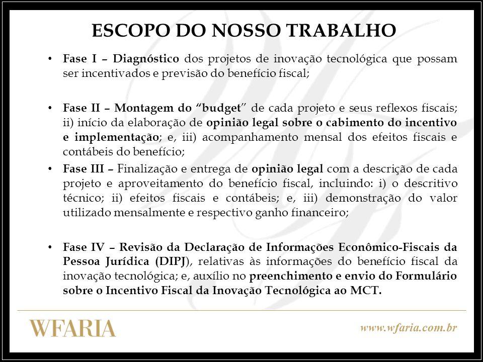 ESCOPO DO NOSSO TRABALHO