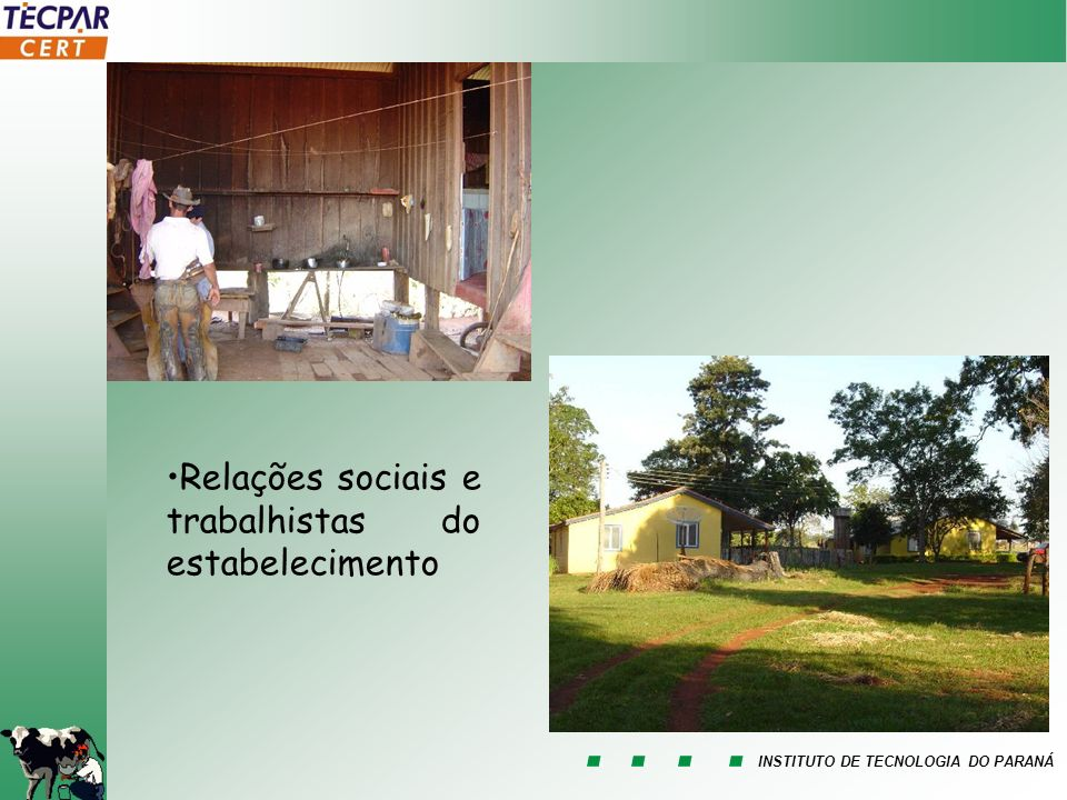 Relações sociais e trabalhistas do estabelecimento