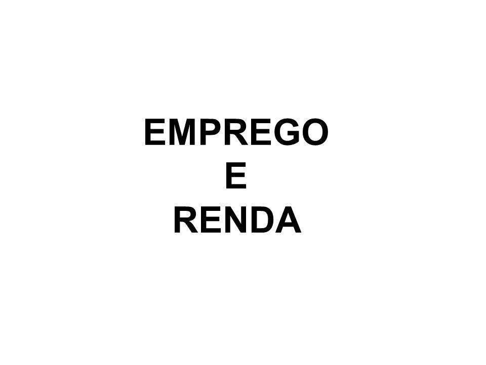 EMPREGO E RENDA