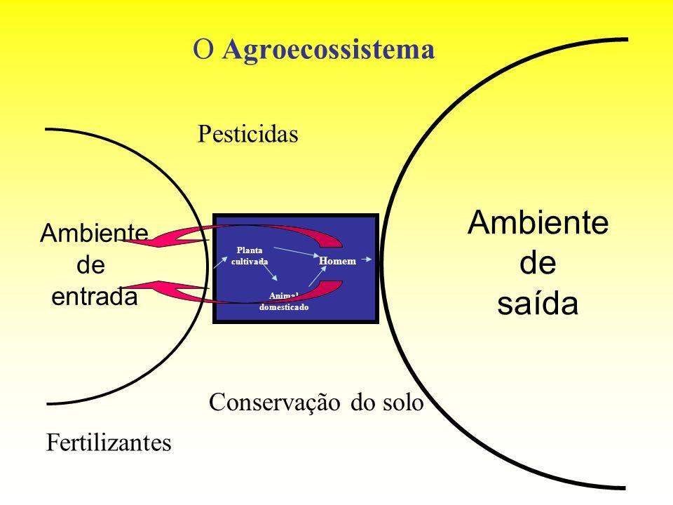 Ambiente de saída O Agroecossistema Pesticidas Ambiente de entrada