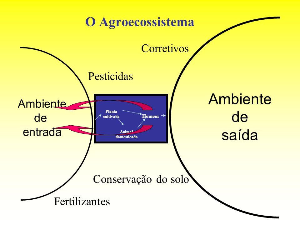 Ambiente de saída O Agroecossistema Corretivos Pesticidas Ambiente de