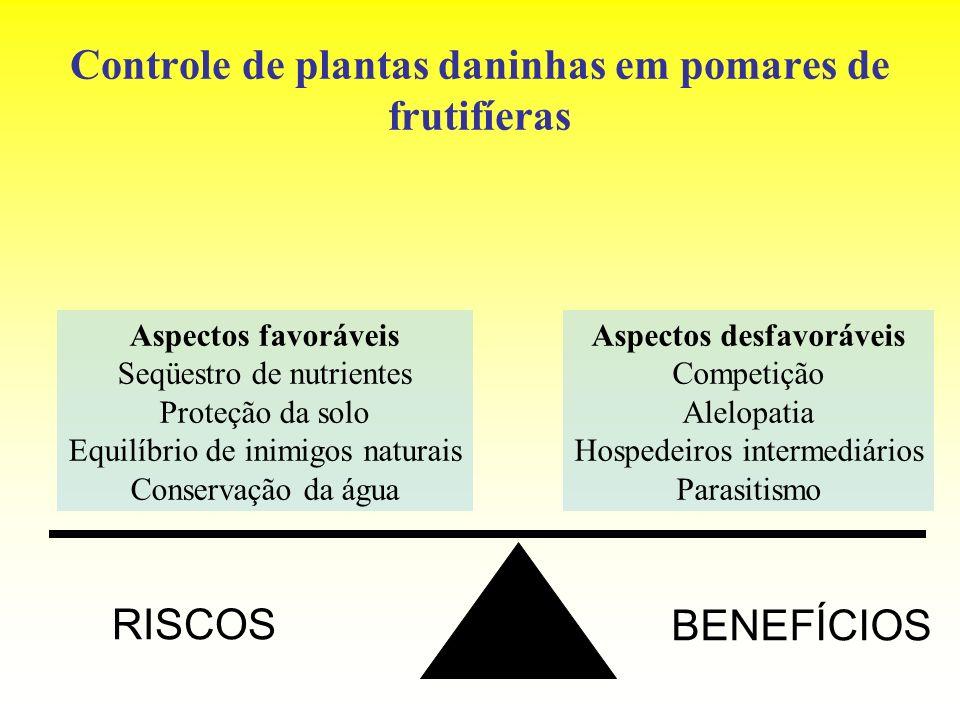 Controle de plantas daninhas em pomares de frutifíeras