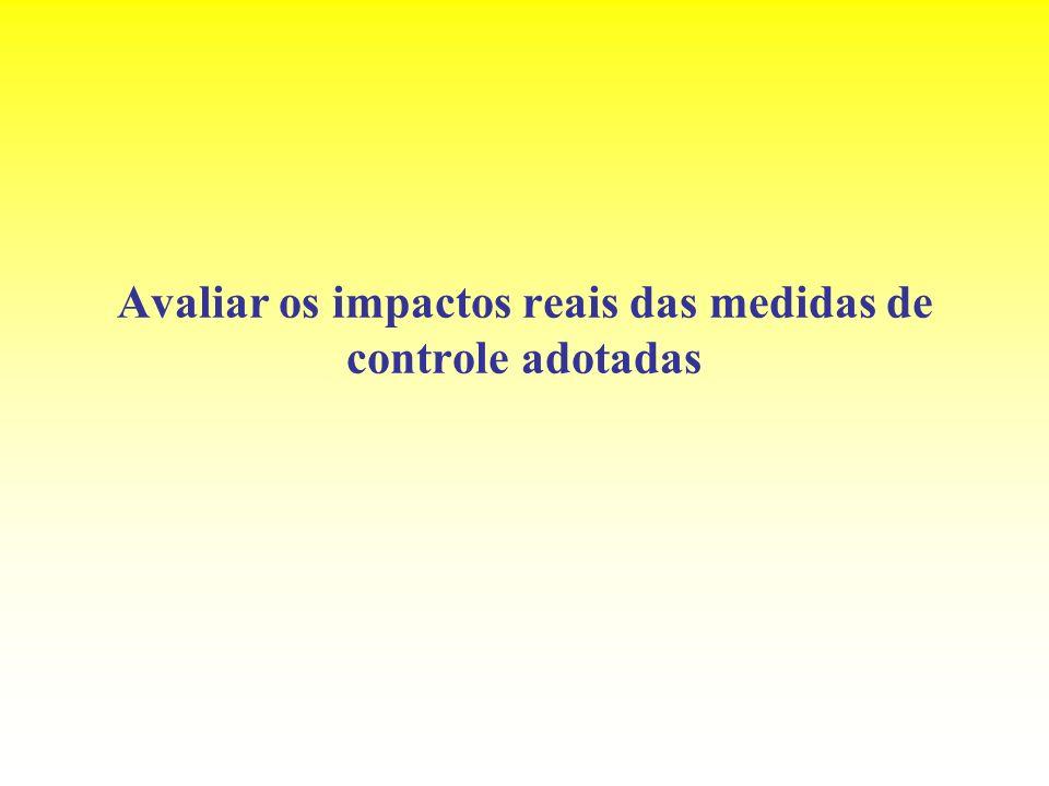 Avaliar os impactos reais das medidas de controle adotadas