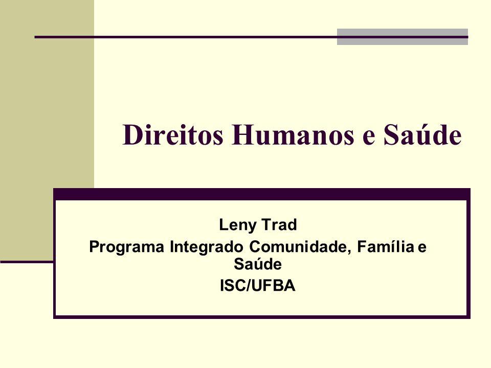 Direitos Humanos e Saúde