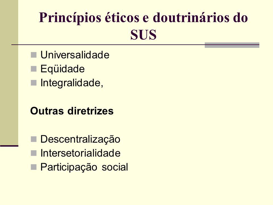 Princípios éticos e doutrinários do SUS