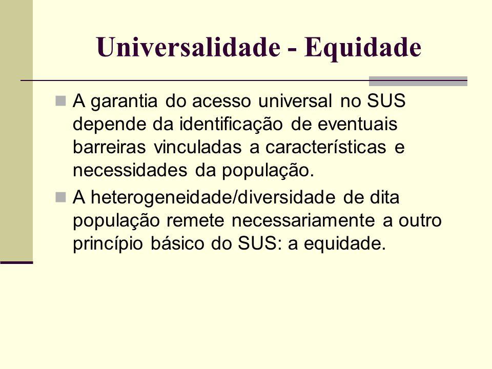 Universalidade - Equidade
