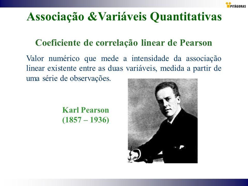 Associação &Variáveis Quantitativas