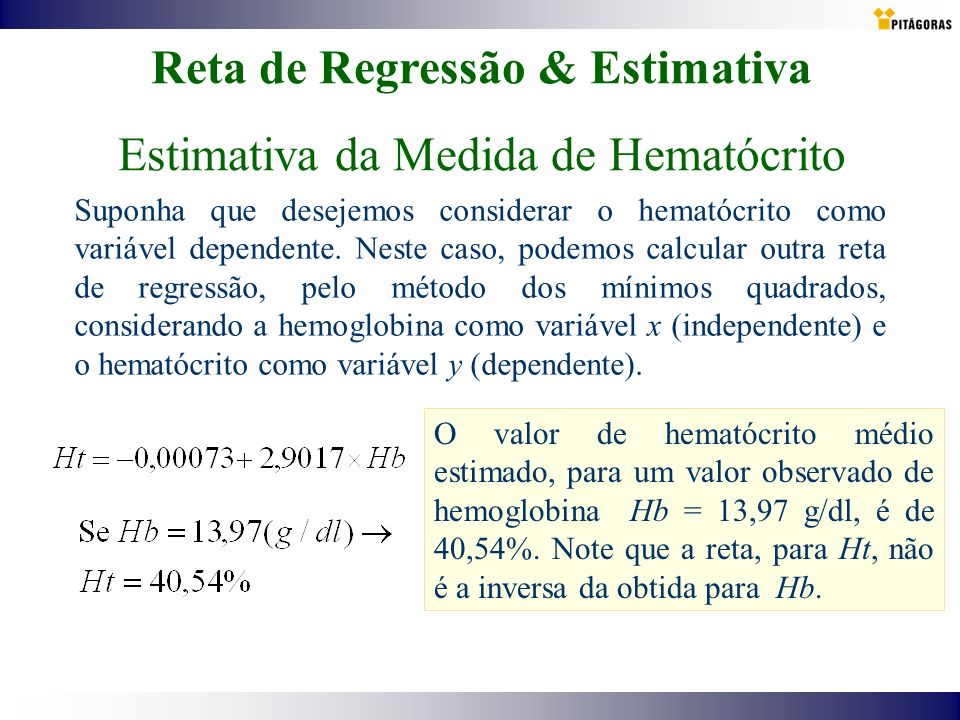 Reta de Regressão & Estimativa