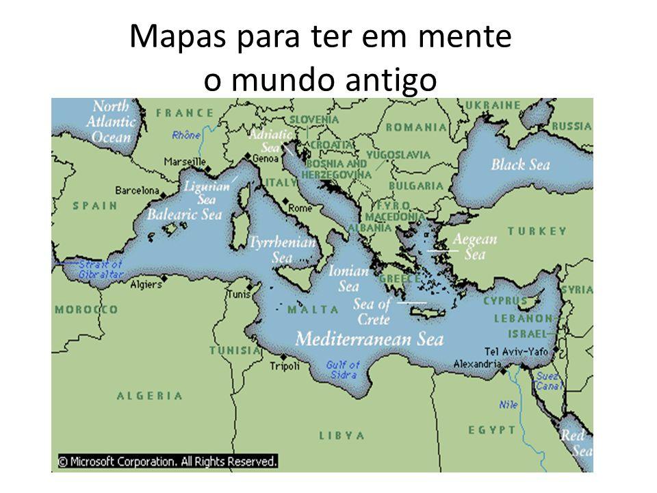 Mapas para ter em mente o mundo antigo