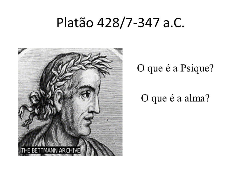 Platão 428/7-347 a.C. O que é a Psique O que é a alma