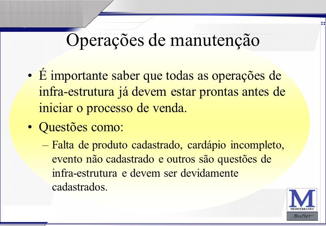 Operações de manutenção