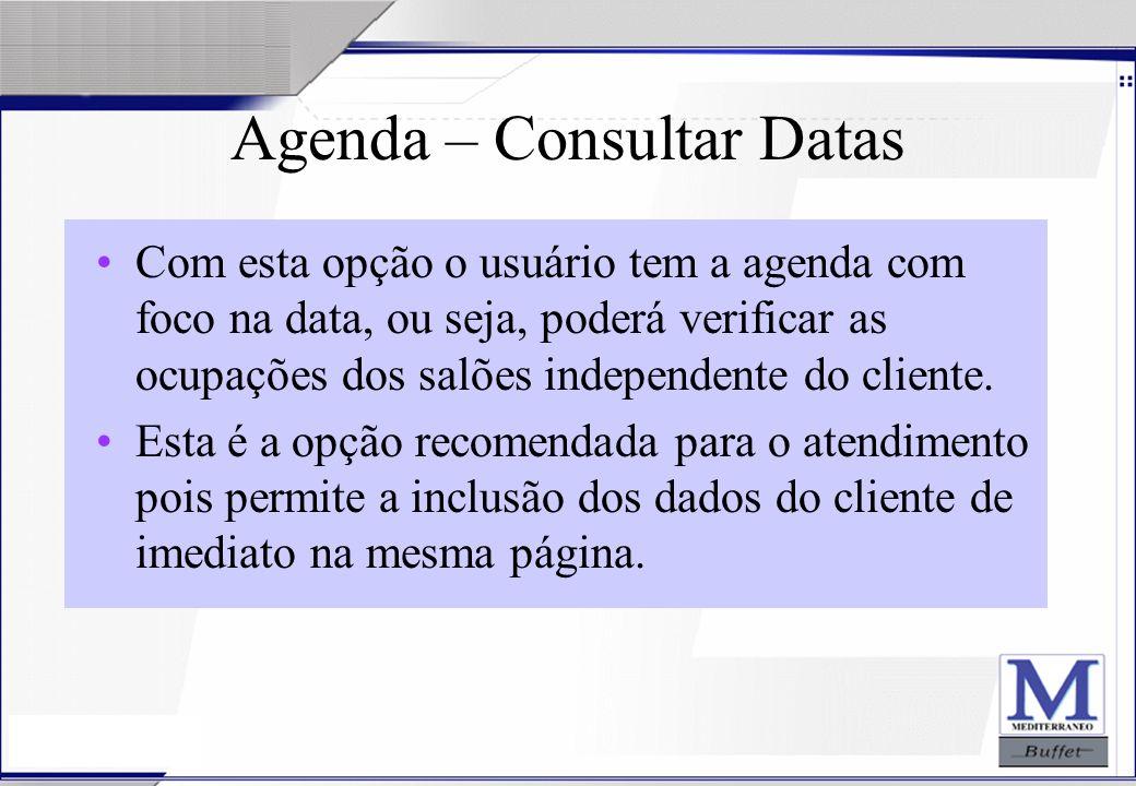 Agenda – Consultar Datas