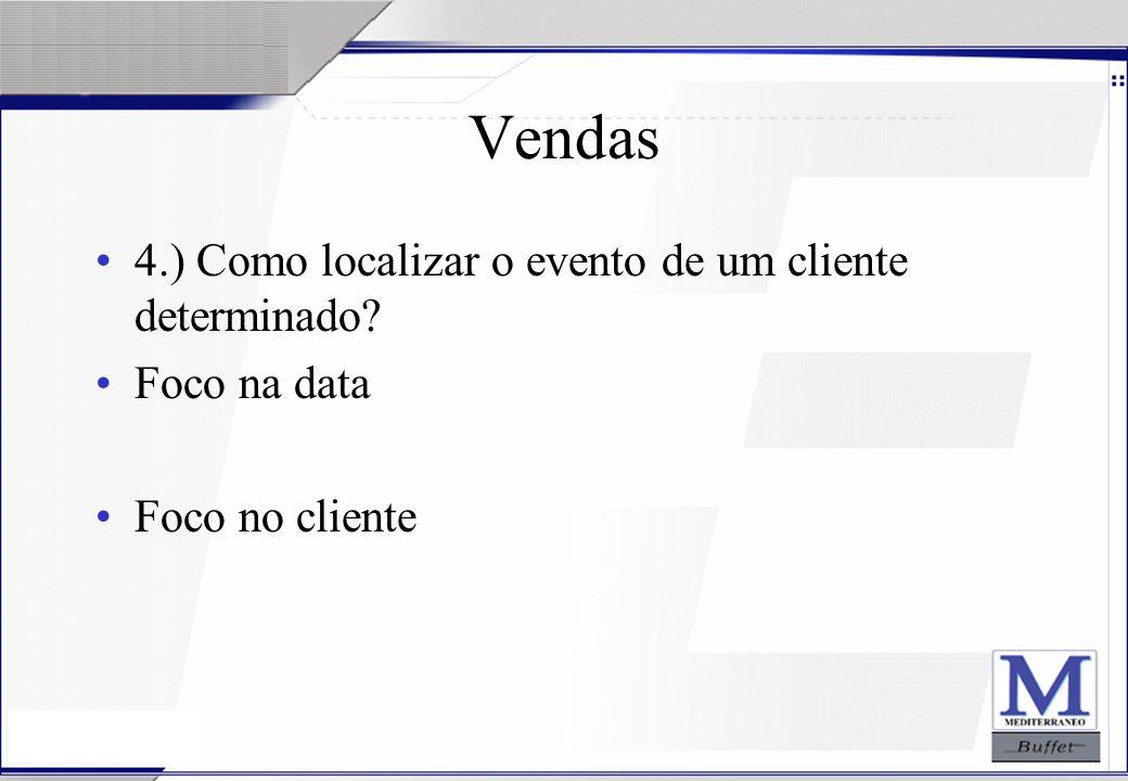 Vendas 4.) Como localizar o evento de um cliente determinado