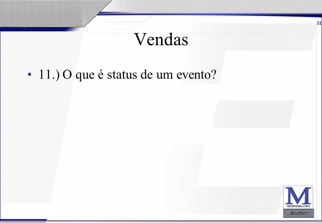 Vendas 11.) O que é status de um evento