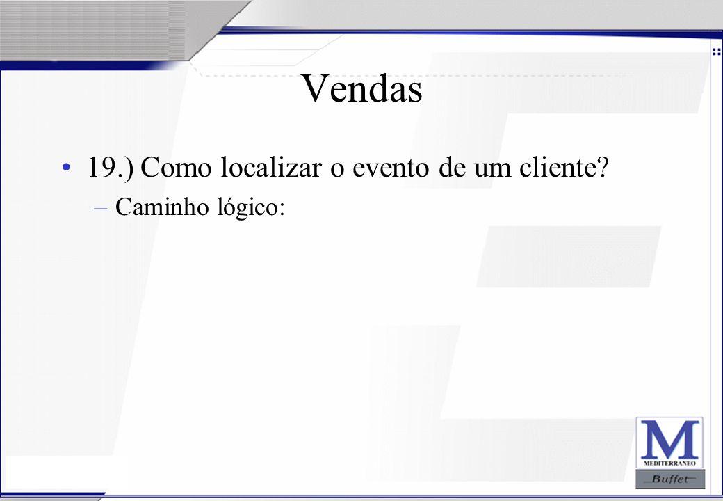Vendas 19.) Como localizar o evento de um cliente Caminho lógico: