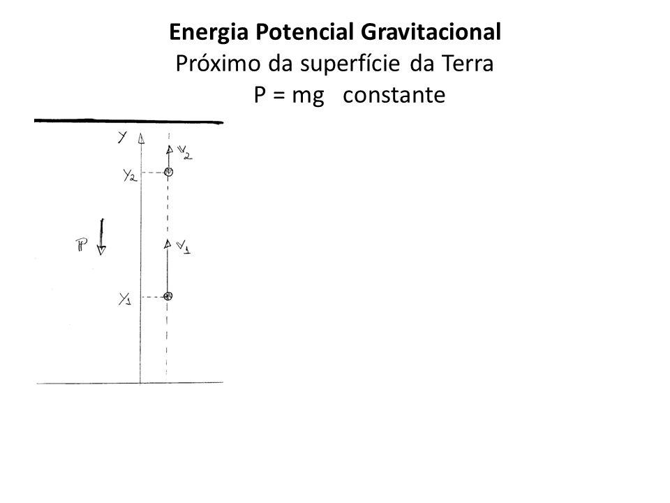 Energia Potencial Gravitacional Próximo da superfície da Terra P = mg constante