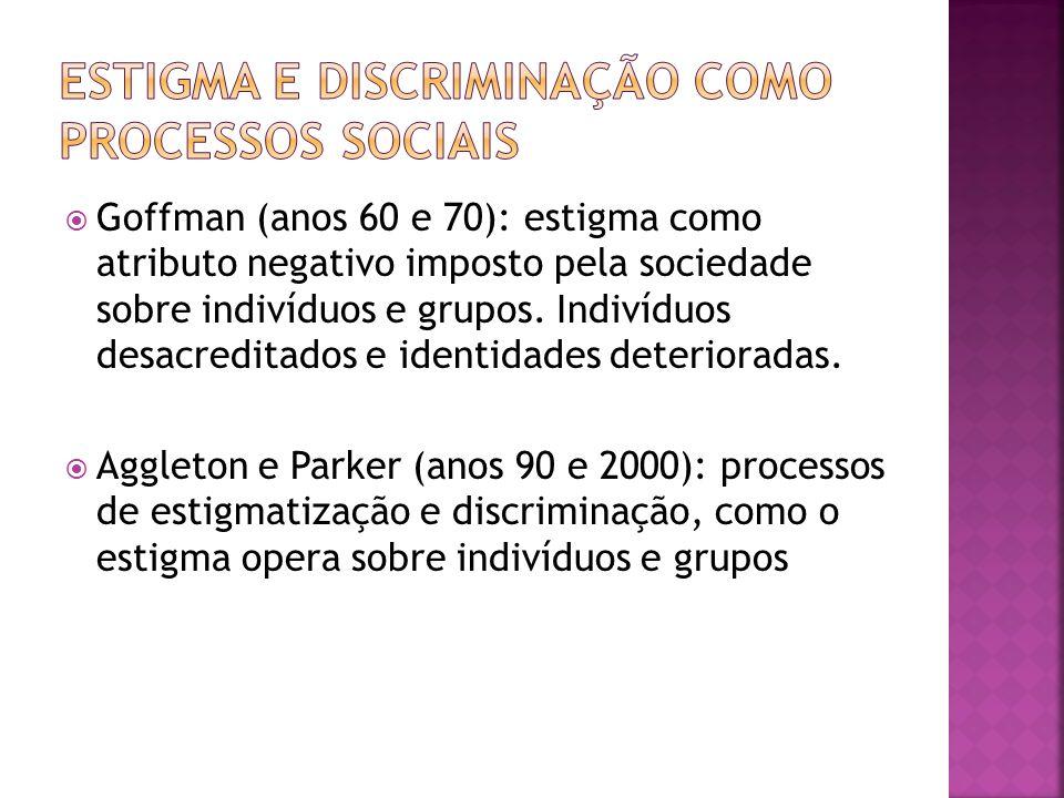 Estigma e discriminação como processos sociais