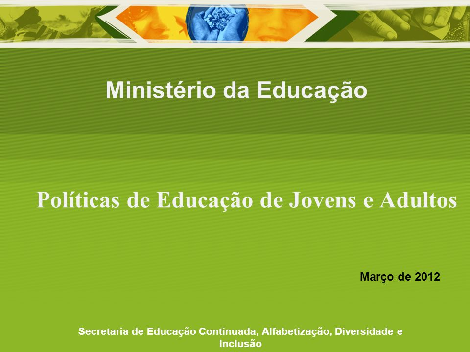 Políticas de Educação de Jovens e Adultos