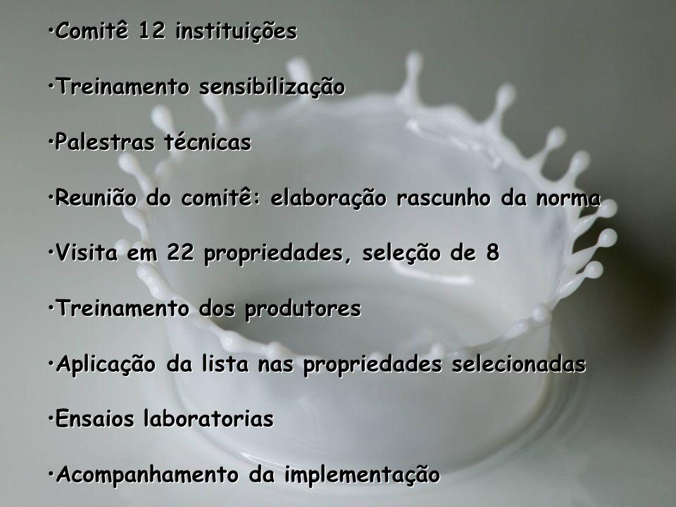 Comitê 12 instituições Treinamento sensibilização. Palestras técnicas. Reunião do comitê: elaboração rascunho da norma.