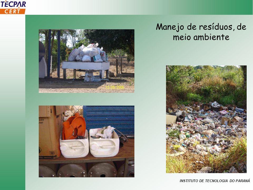 Manejo de resíduos, de meio ambiente