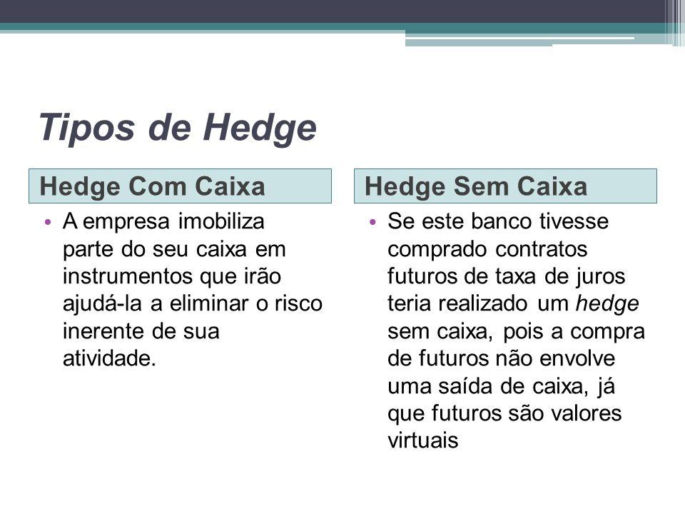 Tipos de Hedge Hedge Com Caixa Hedge Sem Caixa