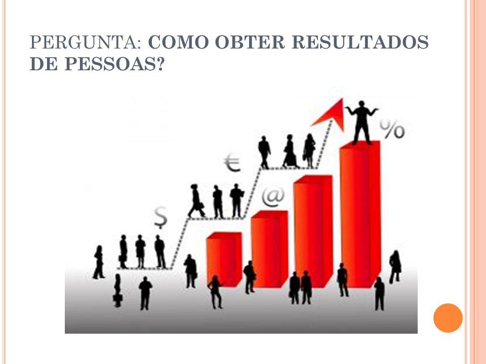 PERGUNTA: COMO OBTER RESULTADOS DE PESSOAS