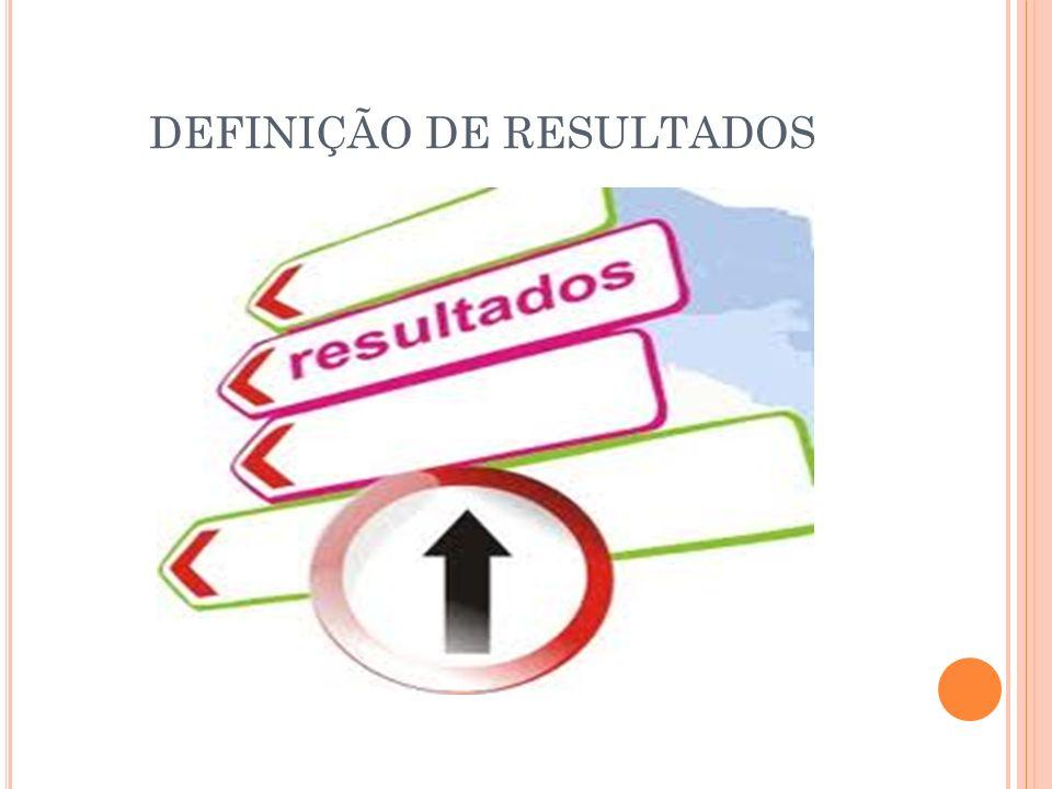 DEFINIÇÃO DE RESULTADOS
