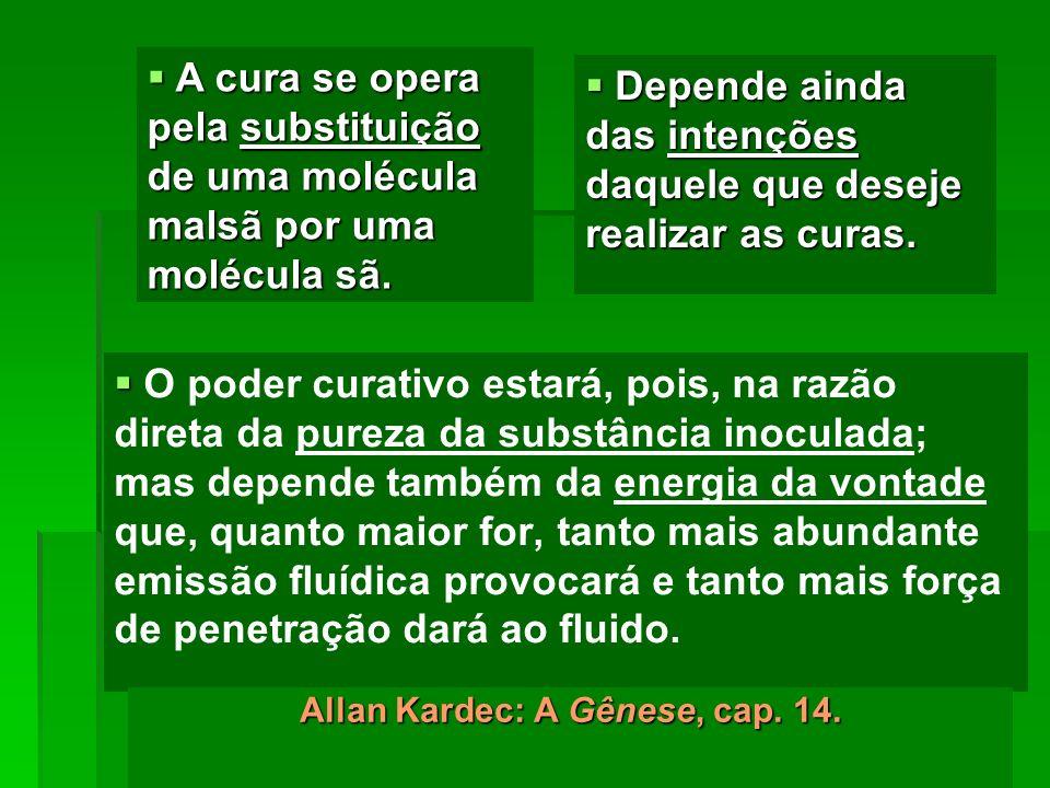 Allan Kardec: A Gênese, cap. 14.