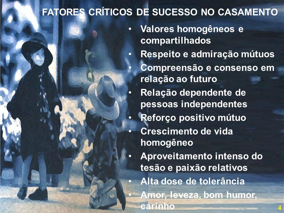 FATORES CRÍTICOS DE SUCESSO NO CASAMENTO